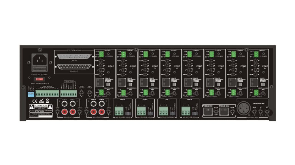 matriz para audio distribuido